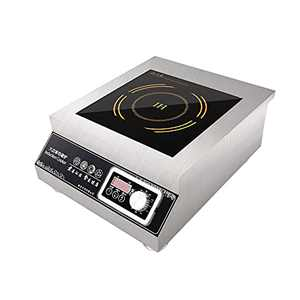 LKZAIY 5000W Commercial Induction Cooktop 220V Electric Induction Cooker Stainless Steel Stove Countertop Burner Hot Plate with Digital Display Panel (Rotary Switch)