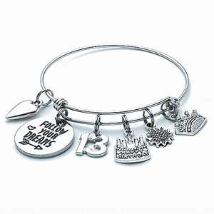 13th Birthday Gifts for Girls Bracelet, Quinceanera Gifts13 Birthday Gifts for Girls Daughter Grand Daughter Niece Cousin 13 Birthday Bracelets Kids Child 13 Year Old Girls Gifts Birthday Present