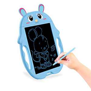 HONGKIT Preshcool Learning Toys for 3 Year Olds Boys,Magna Doodle Board Toddler Toys Age 2-4 LCD Drawing Board for 1 2 3 4 5 Year Old boy Gifts Birthday Gifts for 3 Year Old Boys Rabbit Blue
