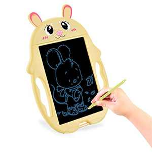 HONGKIT Preschool Toys for 2 Year Old Girls,LCD Writing Tablet for 3 Year Old boy Gifts Magna Doodle Pad Learning Toys for 2 Year Olds Birthday Gift for 1 2 3 4 5 Year Old Girls Bunny Yellow