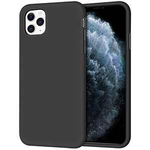 Anuck Case for iPhone 11 Pro Case 5.8 inch, Non-Slip Liquid Silicone Gel Rubber Bumper Case with Soft Microfiber Lining Hard Shell Shockproof Full-Body Protective Case Cover - Black