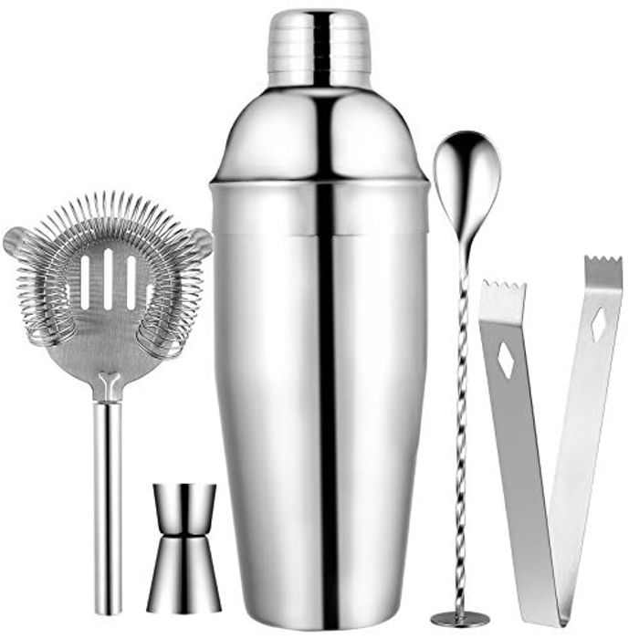 Fyore 750ML 5 Pieces Home Cocktail Shaker Set Bar Bartender Tool Kit Cocktail Making Set Perfect as Housewarming Gifts,Couples Gifts, Gift Sets or Kitchen Set