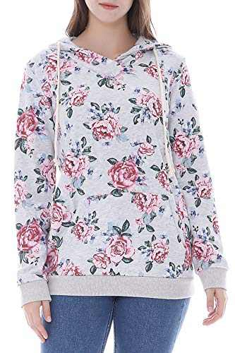 Smallshow Women's Maternity Nursing Hoodie Breastfeeding Sweatshirt Medium AW0023