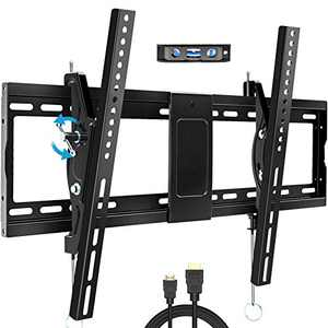"""BLUE STONE Tilt TV Wall Mount Bracket for Most 32-83 Inches TVs, TV Wall Mount with VESA up to 600x400mm, Weight up to 165lbs, Fit 16"""", 18"""", 24"""" Studs, LED, LCD, OLED, 4K Flat Screen Curved TV Mount"""