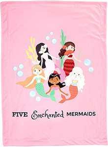 Toddler Blanket for Daycare - 30 x 40 inch Super Soft Mermaid Blanket - Perfect Toddler Summer Blanket