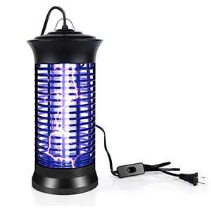 Indoor Bug Zapper with Switch, Electric Mosquito Killer Lamp with UV Light, Portable Standing or Hanging Home Bug Killer for Kitchen and Office