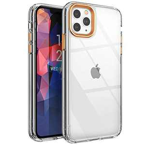 YOUMAKER [2021 Upgraded] Compatible with iPhone 11 Pro Max Case, Clear iPhone 11 Pro Max Cover Shock Absorption Phone Cases 6.5 inch - Orange