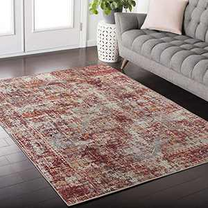 DECOMALL Elysee Vintage Distressed Persian Area Rugs for Living Room Bedroom Kitchen Laundry Room 4'x6'