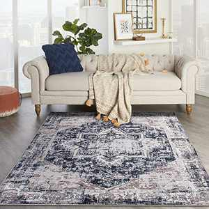 DECOMALL Elysee Vintage Distressed Area Rugs for Living Room Bedroom, 5'x7'