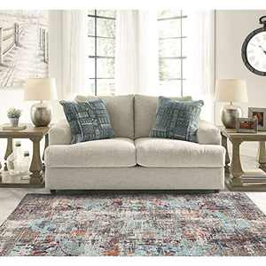 DECOMALL Elysee Vintage Distressed Persian Area Rugs for Living Room Bedroom Kitchen Laundry Room 5'x7'