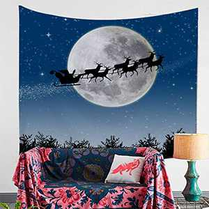 DORCAS Christmas Decoration Merry Christmas Elements Tapestry Wall Art Hanging for Bedroom Living Room TapestryTablecloth Beach Mat Picnic Mat (Christmas Elements,60x79Inches)