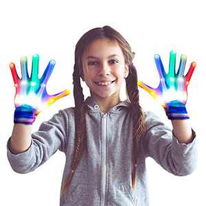 dmazing Christmas Halloween Birthday Gifts for 3-12 Year Old Girls, Led Gloves for Kids Festival Party Supplies for Boys Cool Autistic Toys for 3-12 Year Old Girls Boys Stocking Stuffers Medium