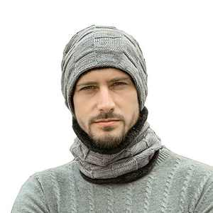 Mens Beanie and Scarf Set Winter Hat Beanie Hat Scarf Set Valentines Day Gifts for Him Gray