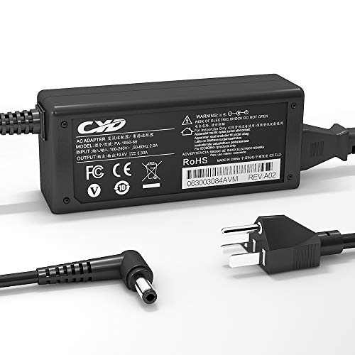 CYD 65W PowerFast-Replacement for Laptop-Charger AC-Adapter Asus-Notebook X551 X551M X551MA X550L X551 F555L K401 X751NV X555LA X551MAV X551MA-DS21Q ADP-65AW A EXA0703YH EXA1208UH AD887320 BADP-65DW
