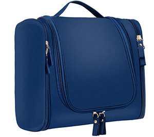 Toiletry Bag Waterproof Cosmetics Bag Portable Makeup Pouch Travel Hanging Organizer Bag Multifunctional Bathroom Shower Shaving Bag, Blue