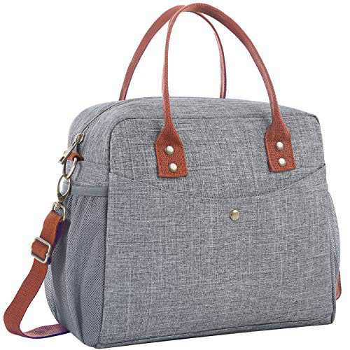 Lunch Bags for Women, HSicily Insulated Lunch Box Lunch Tote Bag Durable Thermal Lunch Bag for Work School Picnic Travel Beach