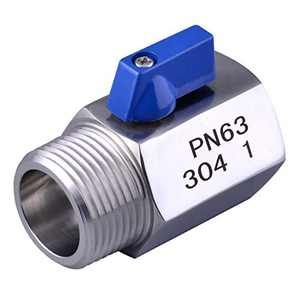 """Cowin Brewing 1"""" Stainless Steel (304) Mini Ball Valve NPT Thread (Female&Male)"""