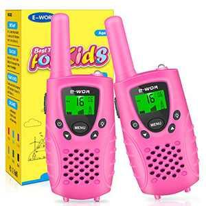 Kids Walkie Talkies,2021 Walkie Talkies for Kids,Birthday Gift for Girls,4 KM Long Range Walkie-Talkie Toys for 3-12 Year Old Kids(Pink-No Batteries)