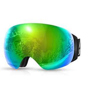 SKL Ski Goggles Over Glasses Snowboard Goggles for Men Women Frameless