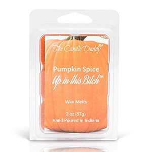 The Candle Daddy -Pumpkin Spice up in This Bitch Halloween Scented Wax Melts - Maximum Scent - Candle Scent Melts- Enjoy Candle Ambience Without Flame Soot - 1 Pack - 2 oz- 6 Cubes