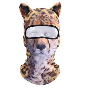 Koolip Cat Balaclava,Dog Balaclava,Halloween Hat,Cute Full Face Hood Mask Animal Ski Mask for Hiking Riding Sports Outdoor (BB-G-02)
