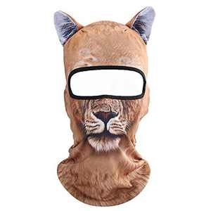 Koolip Cat Balaclava,Dog Balaclava,Halloween Hat,Cute Full Face Hood Mask Animal Ski Mask for Hiking Riding Sports Outdoor (BB-G-04)
