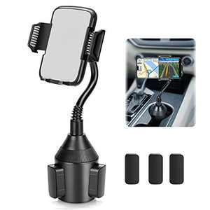 Cup Holder Phone Mount, Cup Holder Cradle Car Mount for Cell Phone Universal Adjustable Gooseneck Cup Phone Holder, Car Phone Mount for iPhone 12 Pro/11 Xs Max/X/XR/8/7 Plus/Galaxy [Upgraded]