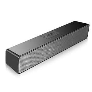 SAKOBS Computer Speakers, 20W Bluetooth 5.0 PC Speakers for Desktop Laptop, USB Powered Wired/Wireless Mini Computer Sound Bar with Dual Speakers,16H Playtime, Microphone, 3.5mm Aux Input & TF.