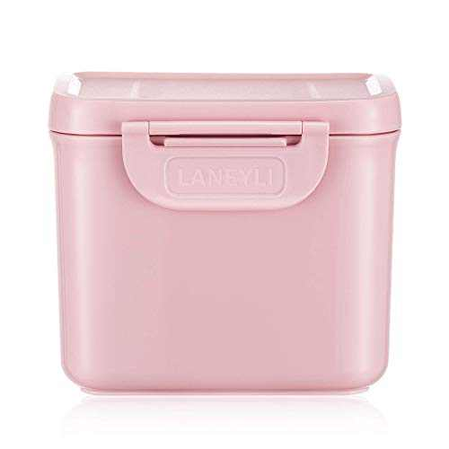 LANEYLI Formula Dispenser with Scoop Milk Powder Formula Containers for Travel Baby Food Storage and Snack Cup for Outdoor Activities On-The-Go Pink(Outer Box Capacity: 0.59 LB(270 g))