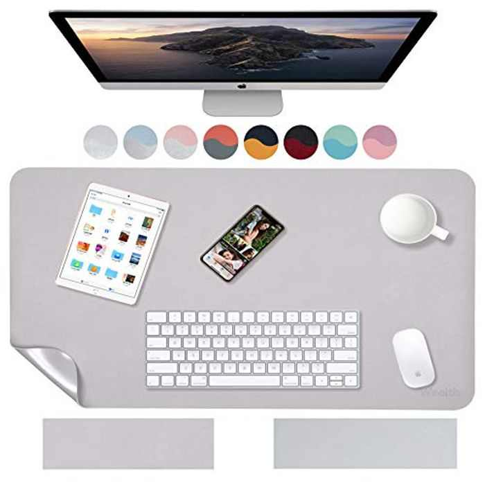 Weelth Multifunctional Waterproof PU Leather Desk Pad Double Sided Desk Pad for Office/Home
