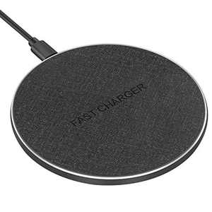 Jojobnj 10W Wireless Charger Fast Qi induction charger for iPhone X / 8/8 Plus, Samsung Galaxy S9 / S8 / S8 Plus / S7 / S6 Edge/Note 8 / Note 5 and all Qi-compatible devices
