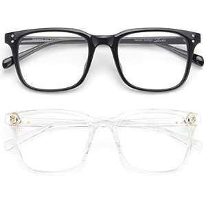 Livho Blue Light Blocking Glasses Computer Gaming Square Nerd Eyeglasses