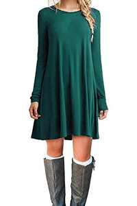 TINYHI Sweaters Women's Handkerchief Cover Plain Asymmetrical Dark Green,XS