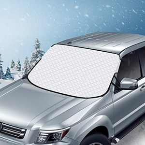 AiBast Windshield Snow Cover, Car Windshield Cover for Ice, Snow and Frost with Magnetic Edges Fits for Most Standard Cars & CRVs and SUV