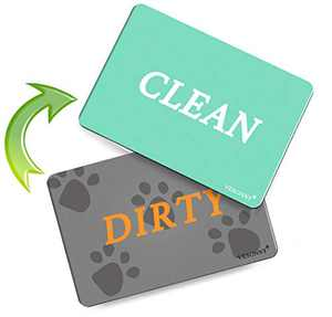 Dishwasher Magnet Clean Dirty Sign, Double Sided Dishwasher Magnet Flip with Strong Magnet and Adhesive Tapes for all Dishwasher, 1 Piece (Green + Gray)