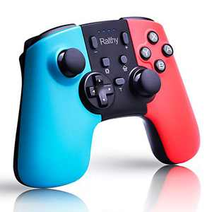 Ralthy Wireless Pro Controller Compatible with Switch/Switch Lite, Replacement Remote Gamepad Joystick Rechargeable Battery, Support Motion Control and Dual Shock
