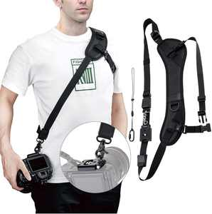 Arac Swiss Quick Release Camera Strap with Safety Tether, Non-slip Neoprene Shoulder Neck Strap Camera for Canon Nikon Sony Olympus Pentax DSLR SLR Camera Camcorder with standard ¼'' tripod screw