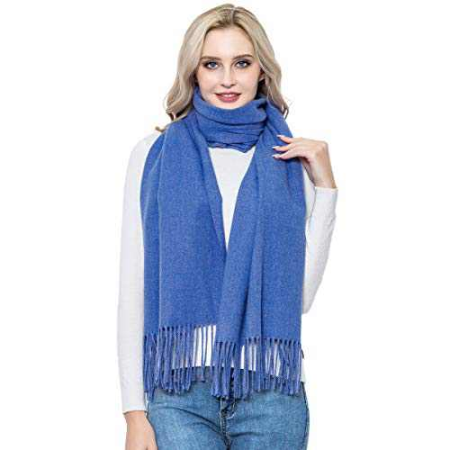 Cashmere Scarf for Women, vimate Soft Real Cashmere Wool Pashmina Shawls and Wraps for Birthday, Christmas