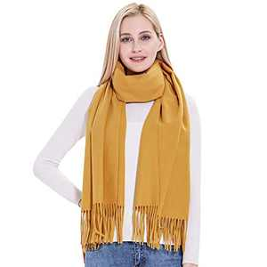 Cashmere Shawl Wrap, vimate Yellow/Gold Soft Cotton Pashmina Cashmere Scarfs and Shawls for Women