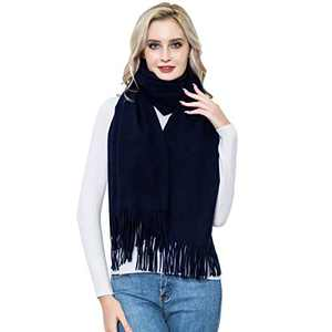 Cashmere Wrap for Women, vimate Large Navy Blue Pashmina Cashmere Scarves and Wraps for Women and Men