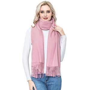 Pashmina Cashmere Scarf Shawl, vimate Soft Warm Pink Wedding Pashmina Shawls and Wraps for Ladies/Women