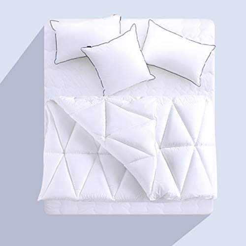 CHOKIT All Season Cal King mforter Soft Quilted Down Alternative Duvet Insert Cowith Corner Loops, Triangle Stitched Reversible Fluffy Hotel Collection, White, 104 x 96 Inches