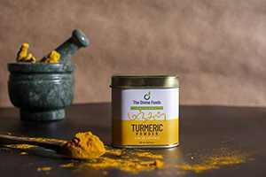 The Divine Foods   Organic Turmeric Powder   Organic   High Curcumin   4.4 oz (125 gm)   100% Raw from India   Reusable tin   Non- GMO   From India Farm   100% Pure