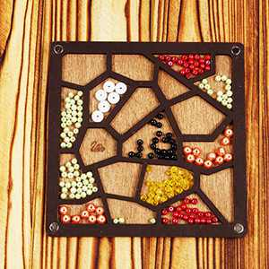 Lonjew Maze-Shaped Bead Organizer Wooden Bead Storage Jewellery Making Gift
