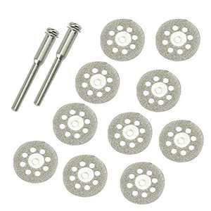 10 pcs Diamond Cutting Wheel Cut Off Discs Coated Rotary Tools Dremel 545 Diamond Wheel W/Mandrel 22mm for Dremel