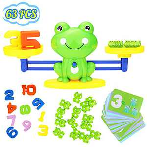 YITOOK Balance Math Game,Frog Balance Counting Toys for Boys & Girls Educational Number Toy Fun Children's Gift STEM Learning Age 3+ (Green)