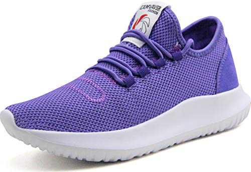 CAMVAVSR Women's Running Shoes Fashion Slip on Lightweight Breathable Mesh Soft Sole Athletic Sneakers for Young Women Purple Men Size 9.5 Women Size 10.5