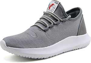 CAMVAVSR Women's Casual Shoes Fashion Slip on Shoes for Big Boys Breathable Mesh Soft Sole Youth School Tennis Run Walk Athletic Sport Outdoor Shoes for Women Gray Men Size 5 Women Size 6.5