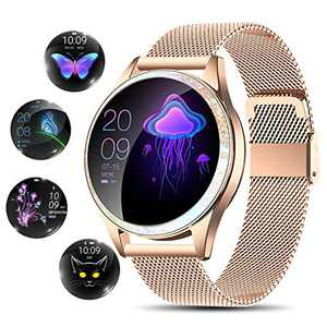 Yocuby Smart Watch for Women,Bluetooth Fitness Tracker Compatible with iOS,Android Phone, Sport Activity Tracker with Sleep/Heart Rate Monitor, Calorie Counter, Gift for Lady Girl
