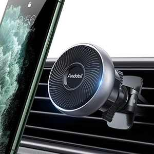 andobil Magnetic Phone Car Mount, [2021 Newest 6 Strong Magnets] Universal Air Vent Car Holder, 360 Degree Rotation Handsfree Cell Phone Holder Compatible with iPhone, Samsung, Pixel, Motorola, etc